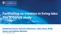"Zum Artikel ""New publication: Facilitating co-creation in living labs: The JOSEPHS study"""
