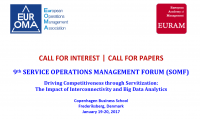 "Zum Artikel ""CfP: 9th SERVICE OPERATIONS MANAGEMENT FORUM"""